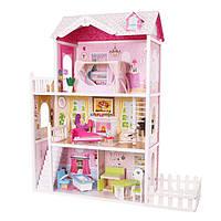 Ігровий ляльковий будиночок для барбі Ecotoys California 4107fm + тераса, 124см!, фото 1