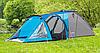 Палатка туристическая Presto Soliter 4, 3500 мм, сине-серая
