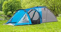 Палатка туристическая Presto Soliter 4, 3500 мм, сине-серая, фото 1