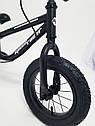 Дитячий беговел 12 дюймів (BRN)B-2 Black Air wheels, фото 3