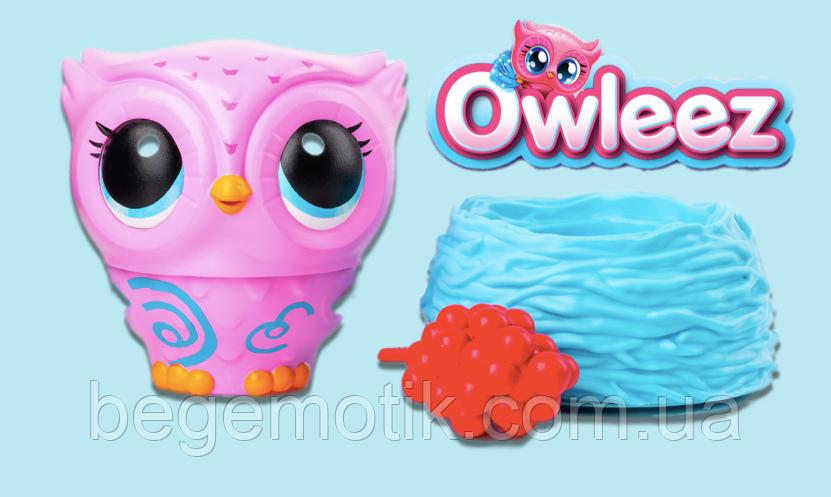 Интерактивная Игрушка Owleez летающая сова с огнями и звуками Flying Baby Owl Interactive Toy - Pink