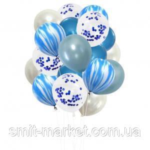 Набор шариков (уп.20шт.) синий, фото 2