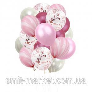 Набор шариков (уп.20шт.) розовый, фото 2