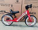 Детский беговел 12 дюймов KIDS BALANCE BIKE НМR-855 Lux красный, фото 3