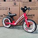 Детский беговел 12 дюймов KIDS BALANCE BIKE НМR-855 Lux красный, фото 5