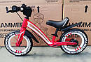 Детский беговел 12 дюймов KIDS BALANCE BIKE НМR-855 Lux красный, фото 4