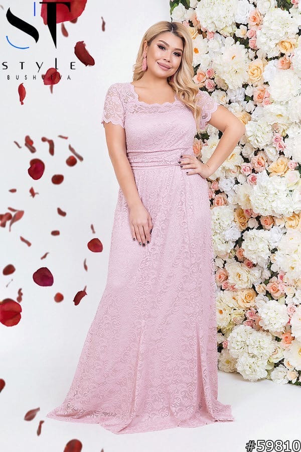 Приголомшливе вечірнє плаття в підлогу з гіпюру великі розміри