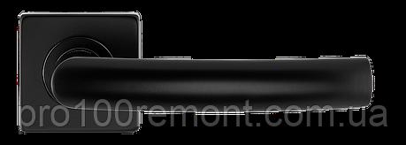 Ручка дверная на розетке S-1101 черный, фото 2