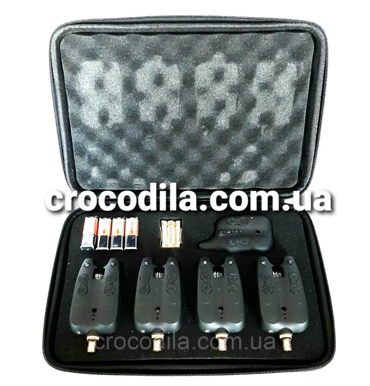 Набор электронных сигнализаторов поклевки с пейджером  4+1 Hirisi JY -10