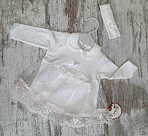 Нарядное детское платье 0-3 мес на девочек Турция оптом