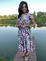 Летнее платье нежно-розовое Linda 187-9, фото 1