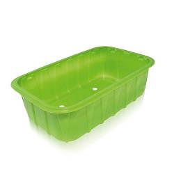 Одноразовый контейнер для ягод ПП-702  - зеленый, 0,5 кг