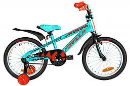 Велосипед 18 дюймов Formula WILD 2020 (бирюзово-черный с оранжевым)