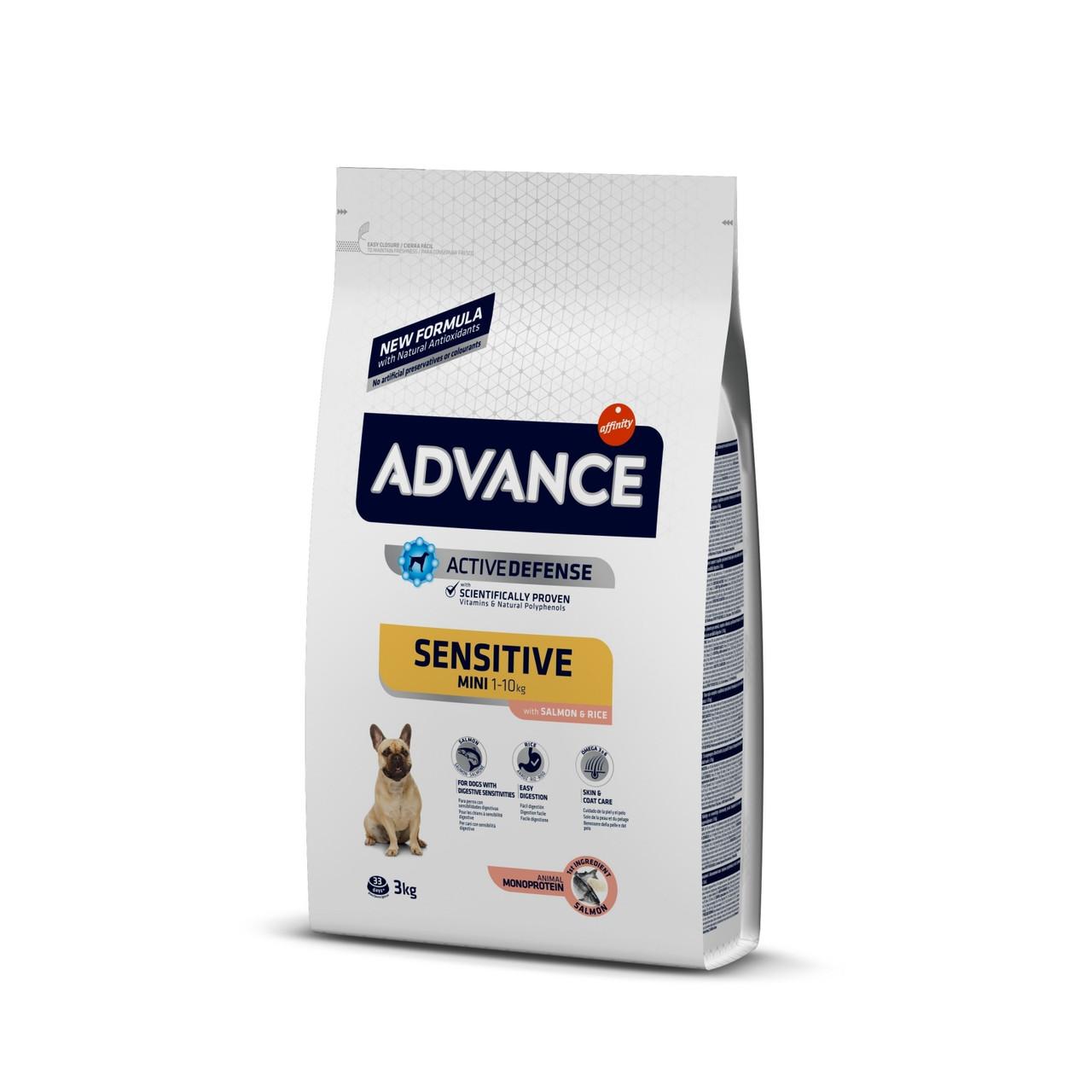 Advance (Эдванс) Adult Mini Sensitive корм для собак мини пород с чувствительным пищеварением