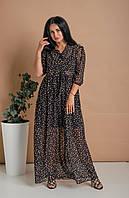 Легкое летнее платье свободного кроя из шифон