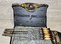 Набор для пикника мангал - чемодан и шампура (на 6 шампуров), фото 1