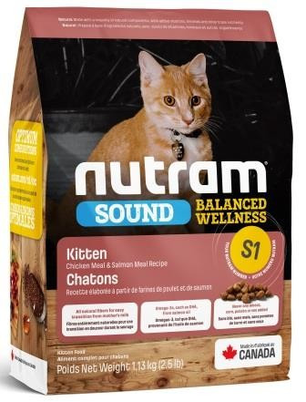 Nutram (Нутрам) S1 Sound Balanced Wellness Natural Kitten Food  корм для котят, 20 кг
