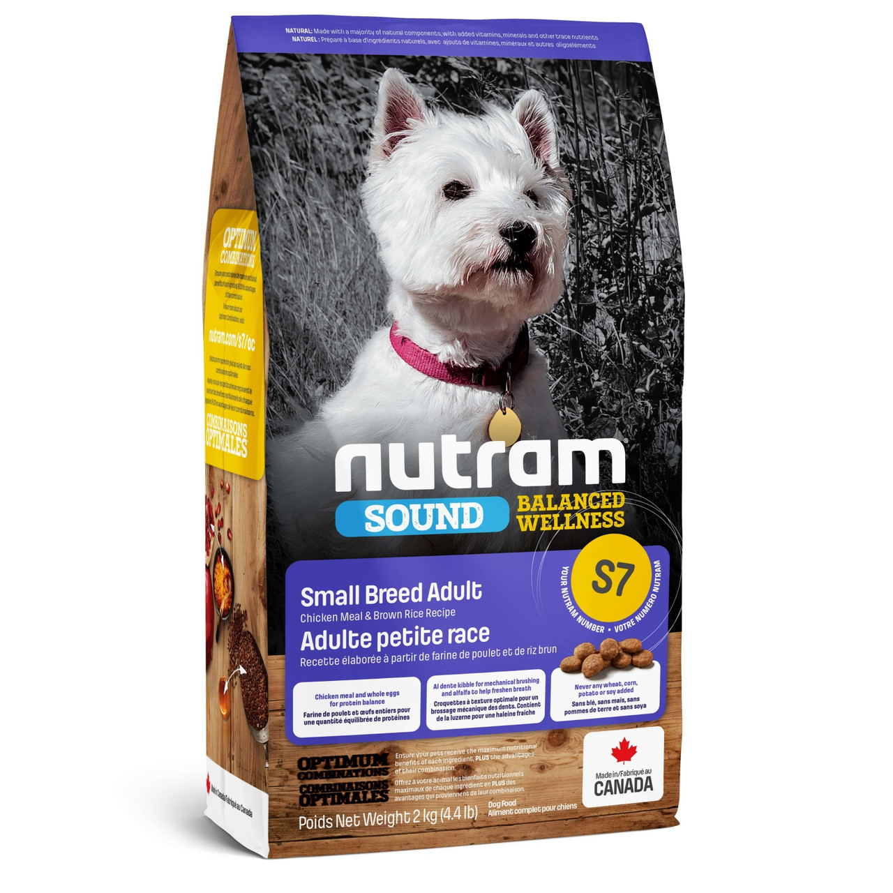 Nutram (Нутрам) S7 Sound Balanced Wellness Small Breed Adult Dog сухой корм для собак мелких пород, 2 кг