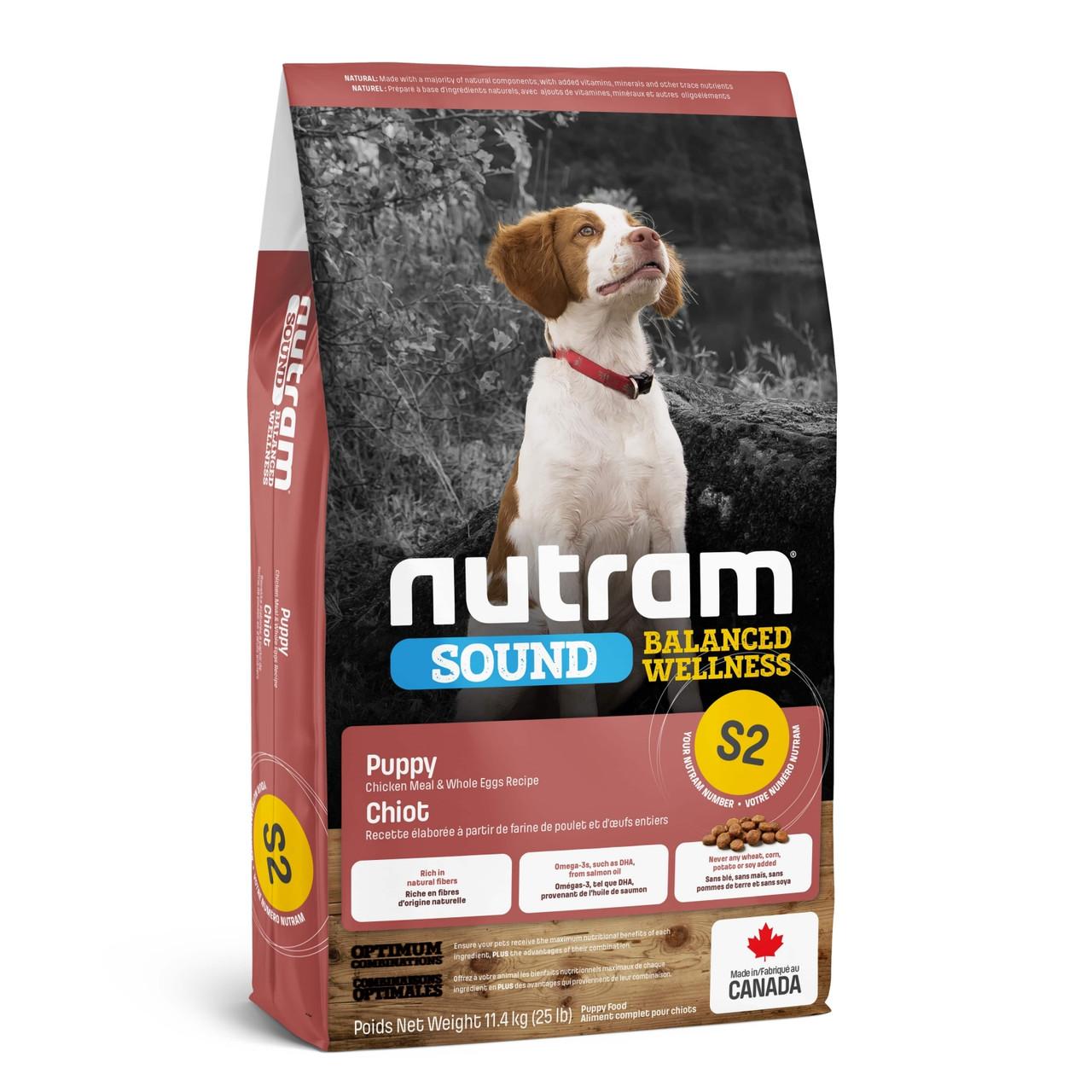 Nutram (Нутрам) S2 Sound Balanced Wellness Natural Puppy Food сухой корм для щенков, 20 кг