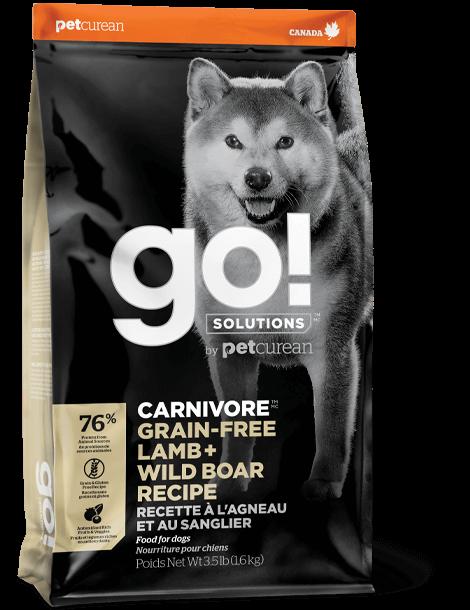 GO! Solutions Carnivore Lamb & Wild Boar беззерновой корм для собак с ягненком и мясом дикого кабана, 1.59 кг