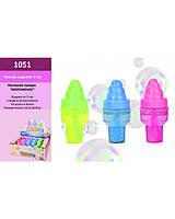 Мыльные пузыри 1051 мороженое, 3 цвета, 24 шт. в боксе 9*24,5*16 см (цена за бокс)