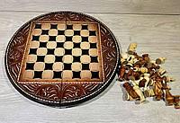 Шахматы ручной работы КРУГ (50х50 см.), фото 1