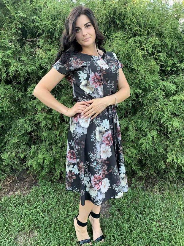 Летнее платье цветочное Linda 187-17