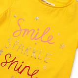 Детская желтая футболка для девочки 1-1.5 года 80-86 см, фото 3