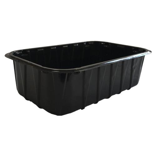 Одноразовый контейнер (лоток) для ягод ПП-702  - черный, 0,5 кг