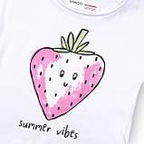 Детская белая футболка для девочки 9-12 месяцев, фото 3