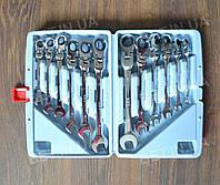 Набір комбінованих ключів з трещеткой LEX 1578, фото 1