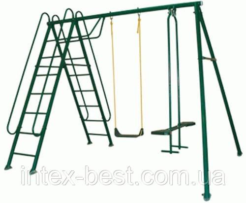 Качели детские Солнышко-3 с лестницей. (Олса-Белорусь)