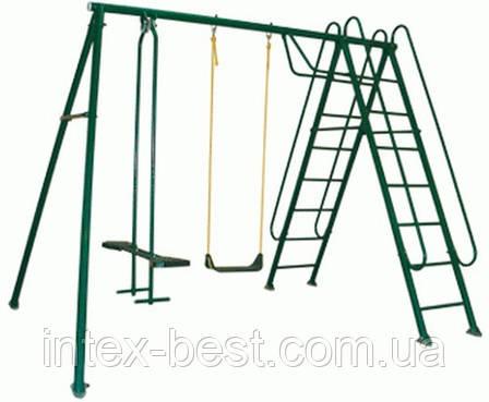 Качели детские Солнышко-3 с лестницей. (Олса-Белорусь), фото 2