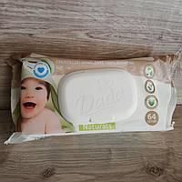 Влажные салфетки детские Dada Naturals (с клапаном), 64 шт