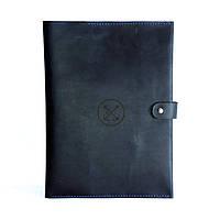 Кожаная папка-портфель для документов А4 Темно-синий  КОД: as150102