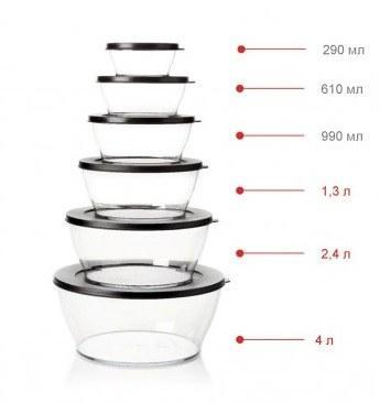 Чаша Кристалл 990мл Tupperware