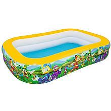 Детский надувной бассейн Bestway 91008 «Микки Маус», 262 х 175 х 51 см