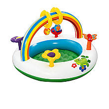 Детский надувной центр Bestway 52239 «Радуга», 94 х 56 см, с игрушками