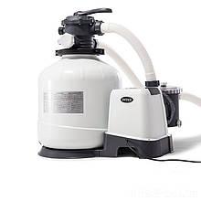 Песочный фильтр насос Intex 26652, 12 000 л\ч, 55 кг, New 2019