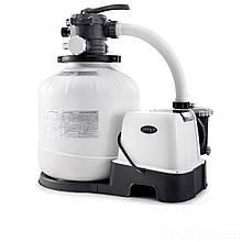 Песочный насос с хлоргенератором Intex 26680, 10 000 л/ч, хлор 11 г/ч, 55 кг