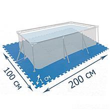 Мат-подложка для бассейна Intex 29081, 200 х 100 см, набор 8 шт (50 x 50 см), толщина 1 см