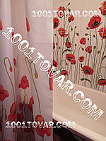 """Шторка для ванной комнаты """"Poppy"""" или Маки, Miranda (Миранда). Производство Турция"""