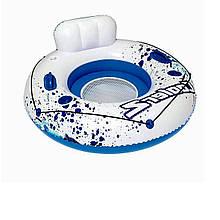 Надувной круг Cooler Z, серия «Sports», Bestway 43108, голубое, с ручками, 119 см