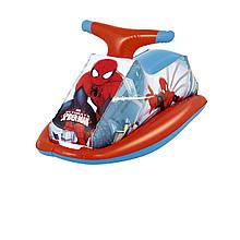 Детский надувной плотик для катания Bestway 98012 «Спайдер Мен, Человек-Паук», 89 х 46 см