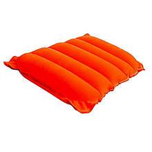 Надувная флокированная подушка Bestway 67485, оранжевая, 38 х 24 х 9 см