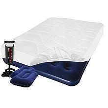 Надувной матрас Pavillo Bestway 67002-3, 137 х 191 х 22 см, с наматрасником-чехлом, двумя подушками и ручным насосом. Полуторный