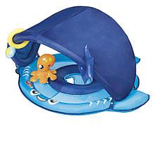 Надувная лодочка Bestway 34110, с трусиками, с навесом, 94 см, синяя