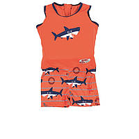 Детский костюм для мальчиков Bestway 32168, «Акула», XS (1 - 3) 11 - 18 кг, оранжевый