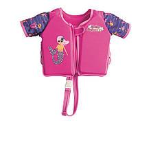 Детский жилет  Bestway 32147, «Русалочка», S (3 - 6) 18 - 30 кг, розовый