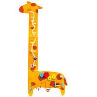 Деревянная игрушка Бизиборд MSN17078  жираф, Wooden Toys
